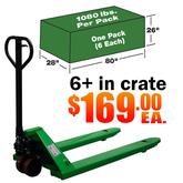 Industrial pallet jacks by the crate