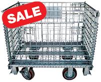Wire Mesh Container Casters SALE
